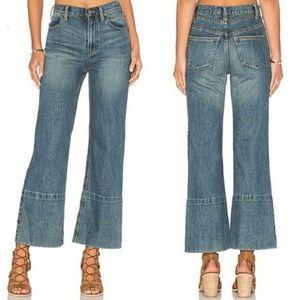 25% off🍂Free People wide leg crop jeans